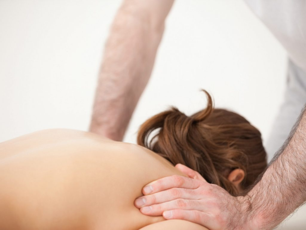 Photo of someone getting a massage.